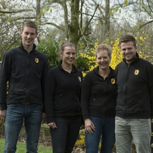 professioneel team van plaizier